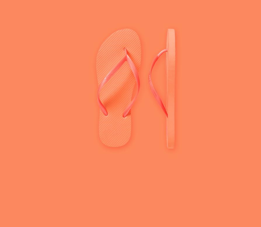 Orange Flip Flop